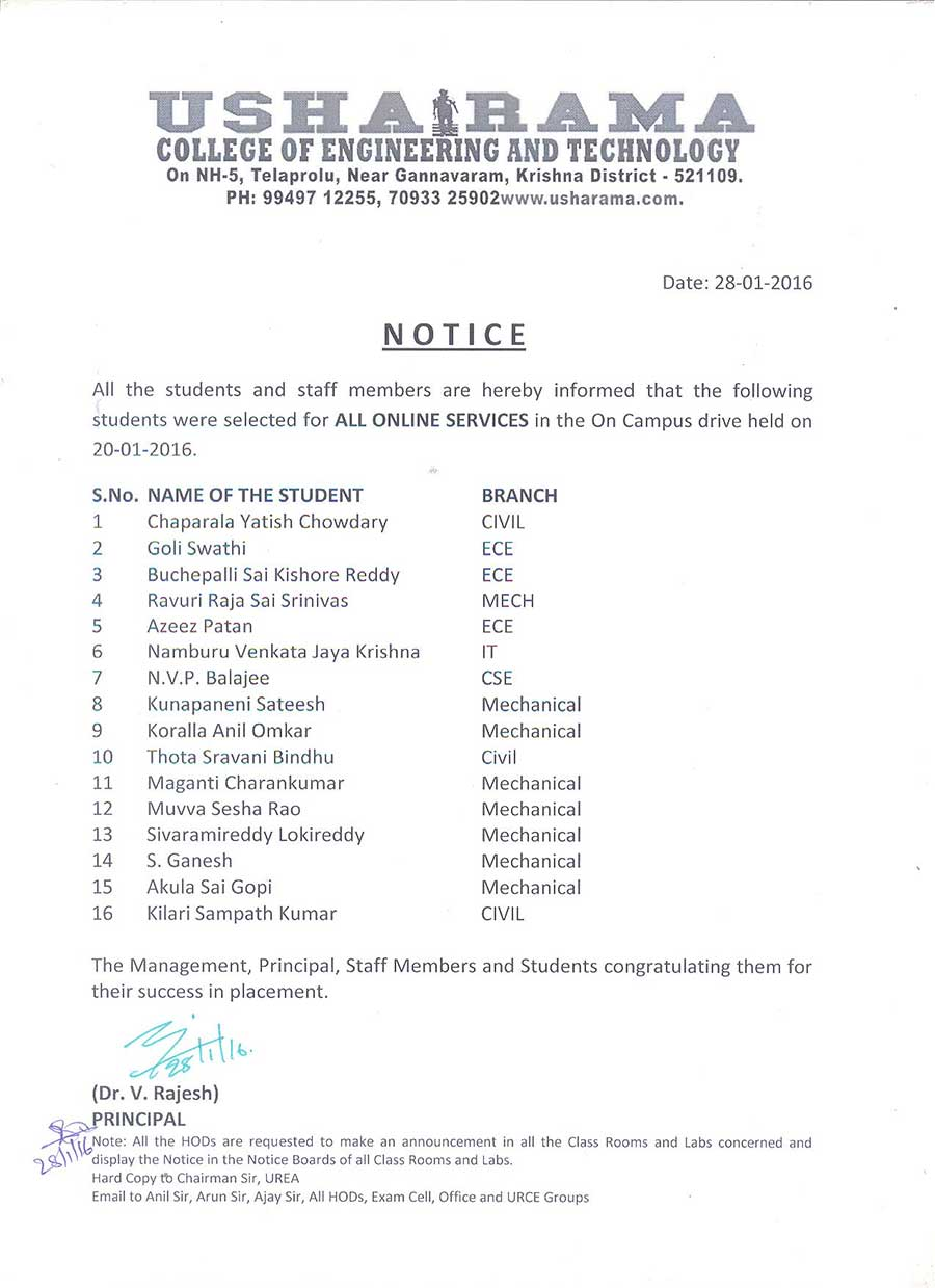 all online services Selected Students