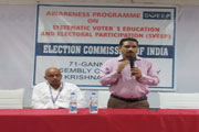 Voter Awareness Program conducted by Usha Rama College
