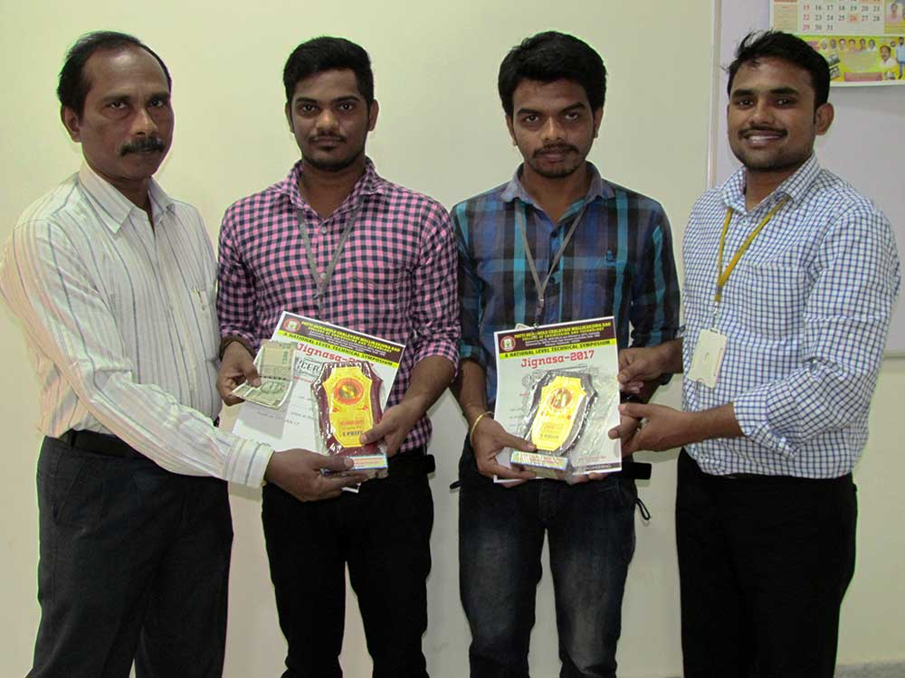 btech 3rd eee students got first prize in technical quiz 2