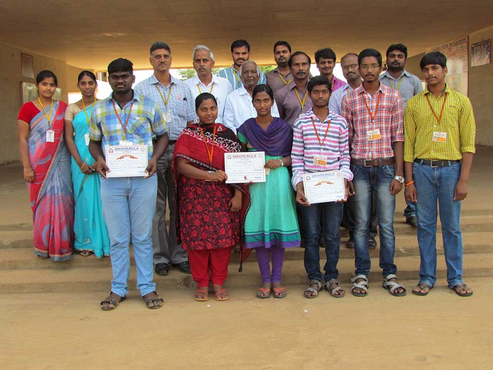 DCE Prize Winners in Dhanekula College Fest 1
