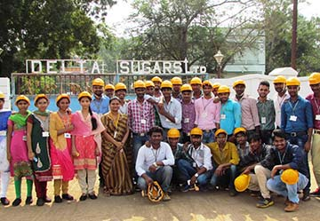 Industrial visit to Delta Sugars on 14-12-2016