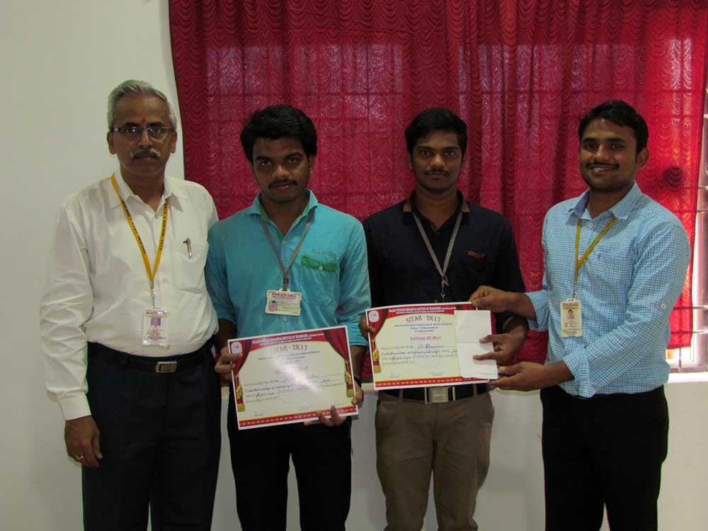 First Prize in National Level Project Expo Event 2