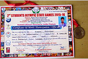 Gold Medal in 2nd Students Olympic state Games 2