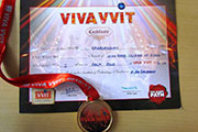 Gold Medal in Folk Dance in National Level VIVIA 1