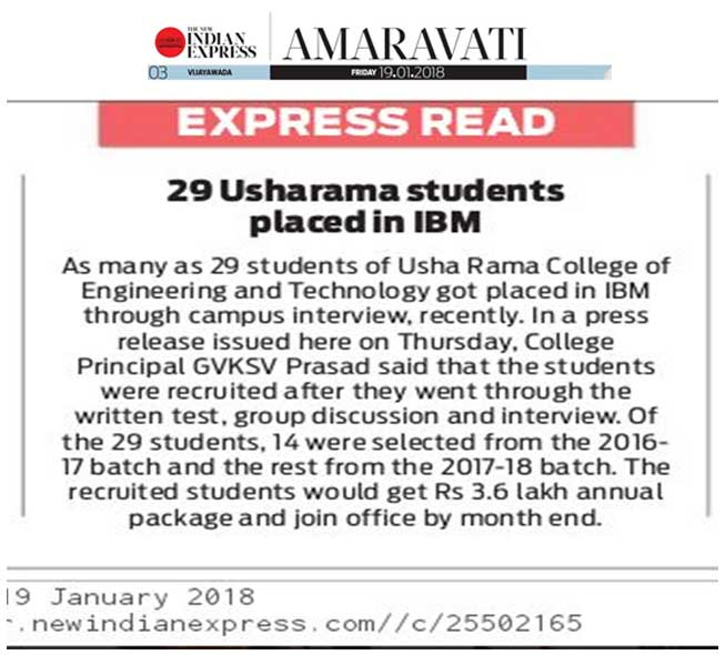 indianexpress-paperclipping-ibm-selected-students