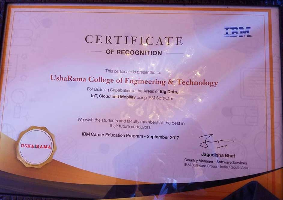 special recognition from ibm urce