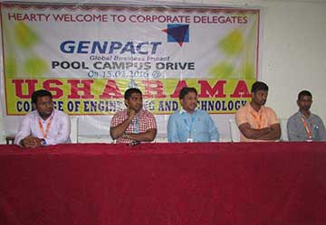GENPACT off-campus pool drive on 15/2/2016