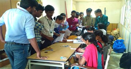 PAN Card drive at Usharama college