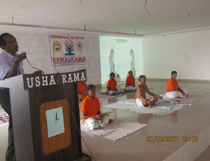Yoga Day Celebration at Usha Rama College